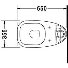 Inodoro completo tanque bajo 65 D-Code DURAVIT