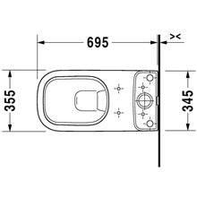 Inodoro completo dual 36 D-Code DURAVIT
