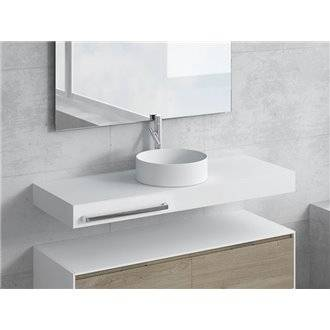 Conjunto encimera+lavabo ACIS toallero NATUGAMA