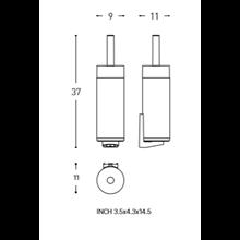 Escobillero suelo/pared logic COSMIC