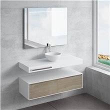 Conjunto encimera+lavabo CALIPSO toallero NATUGAMA