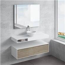 Conjunto encimera+lavabo CALIPSO cajón NATUGAMA