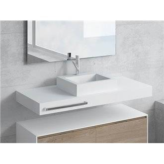 Conjunto encimera+lavabo GALATEA toallero NATUGAMA