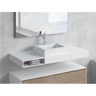 Conjunto encimera+lavabo GALATEA cajón NATUGAMA