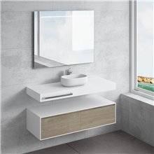 Conjunto encimera+lavabo NEREIDA toallero NATUGAMA