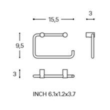 Portarrollo/toallero aro logic COSMIC