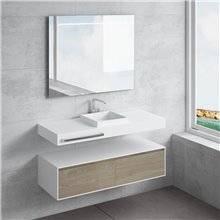 Conjunto encimera+lavabo CAMENA toallero NATUGAMA