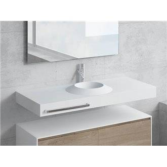 Conjunto encimera+lavabo CORUS toallero NATUGAMA