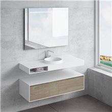 Conjunto encimera+lavabo JUNO cajón NATUGAMA