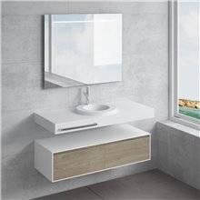 Conjunto encimera+lavabo LARES toallero NATUGAMA