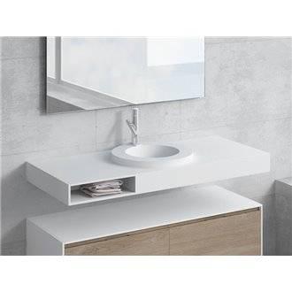 Conjunto encimera+lavabo LARES cajón NATUGAMA