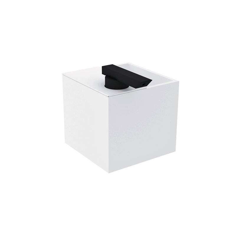Dispensador con portacepillos blanco y negro the grid COSMIC