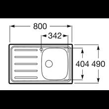 Fregadero 80x49cm escurridor izda J Roca