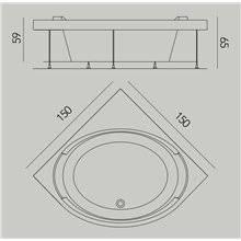Bañera Bravatta sin estructura b10