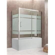 Mampara angular bañera 1 corredera decorado AKTUAL GME