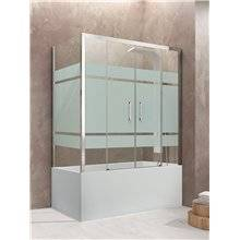 Mampara angular bañera 2 correderas decorado AKTUAL GME