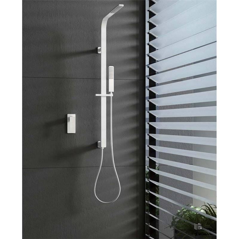 Kit de ducha empotrado blanco Imex Bahamas
