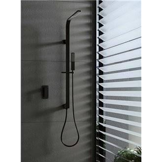 Kit de ducha empotrado negro Imex Bahamas
