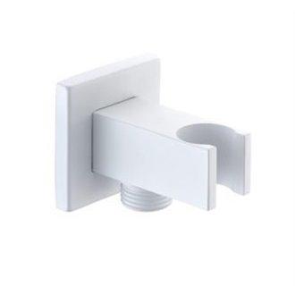 Salida de flexo y soporte de ducha cuadrado BL Imex