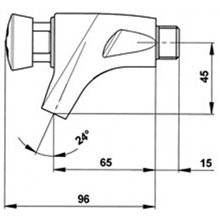 Grifo lavabo PRESTO 504 XL