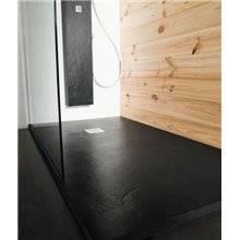 Plato de ducha Natural Pizarra Negra b10