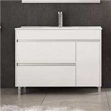 Mueble con lavabo 60 Blanco brillo Caprera TEGLER