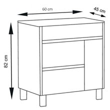 Mueble con lavabo Crema Caprera TEGLER