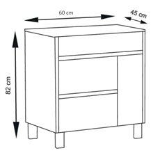 Mueble con lavabo 60 Roble Evasión Caprera TEGLER