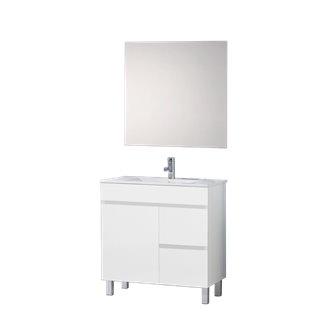 Mueble con lavabo Blanco brillo Ísquia TEGLER