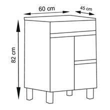 Mueble con lavabo Roble Evasión 60 Ísquia TEGLER