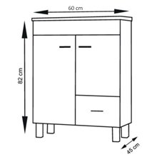 Mueble con lavabo Blanco brillo Samos TEGLER