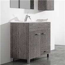 Mueble con lavabo Roble Smoky Samos TEGLER