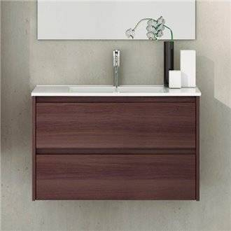 Mueble con lavabo de fondo reducido 60 Fresno Tea Ibiza TEGLER
