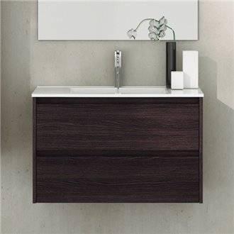 Mueble con lavabo de fondo reducido Roble Sinatra Ibiza TEGLER
