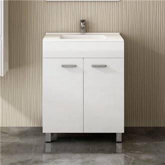 Mueble con lavabo Blanco brillo ECO TEGLER
