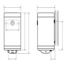 Termo vertical 50 litros SLIM TEGLER