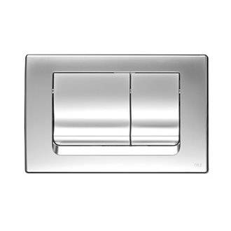 Placa pulsadora Ria cromo mate OLI