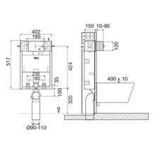 Cisterna empotrada neumática OLI120 PLUS SIMFLEX