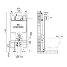 Cisterna empotrada OLI74 PLUS S90 Sanitarblock Mecánico